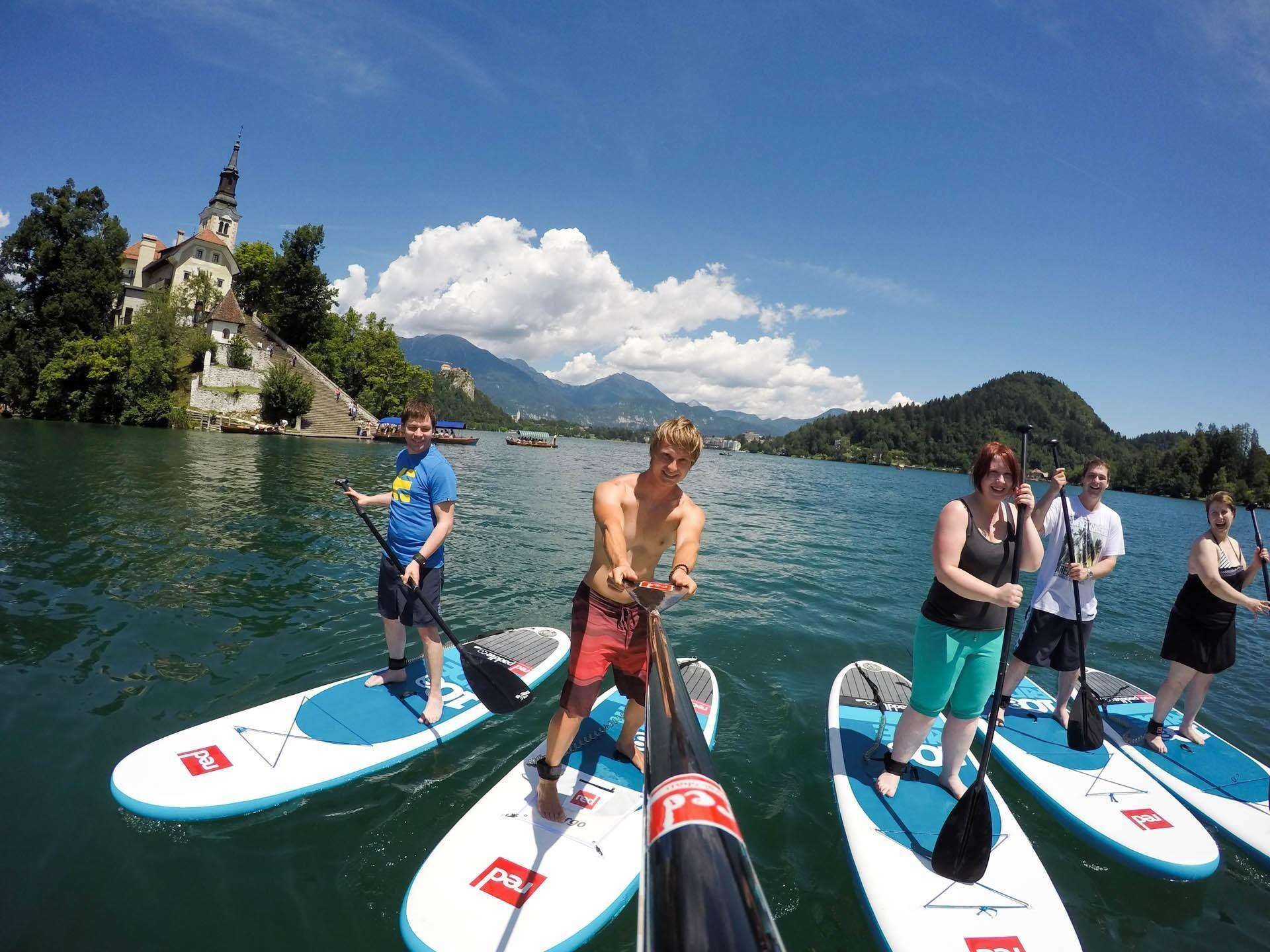Active Day SUP Tour Bled: paddleboarding lake Bled | Slovenia