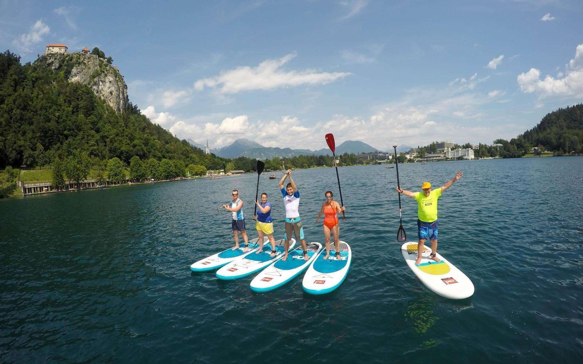 Active SUP Tour Day 3| Paddle boarding on lake Bled | Slovenia