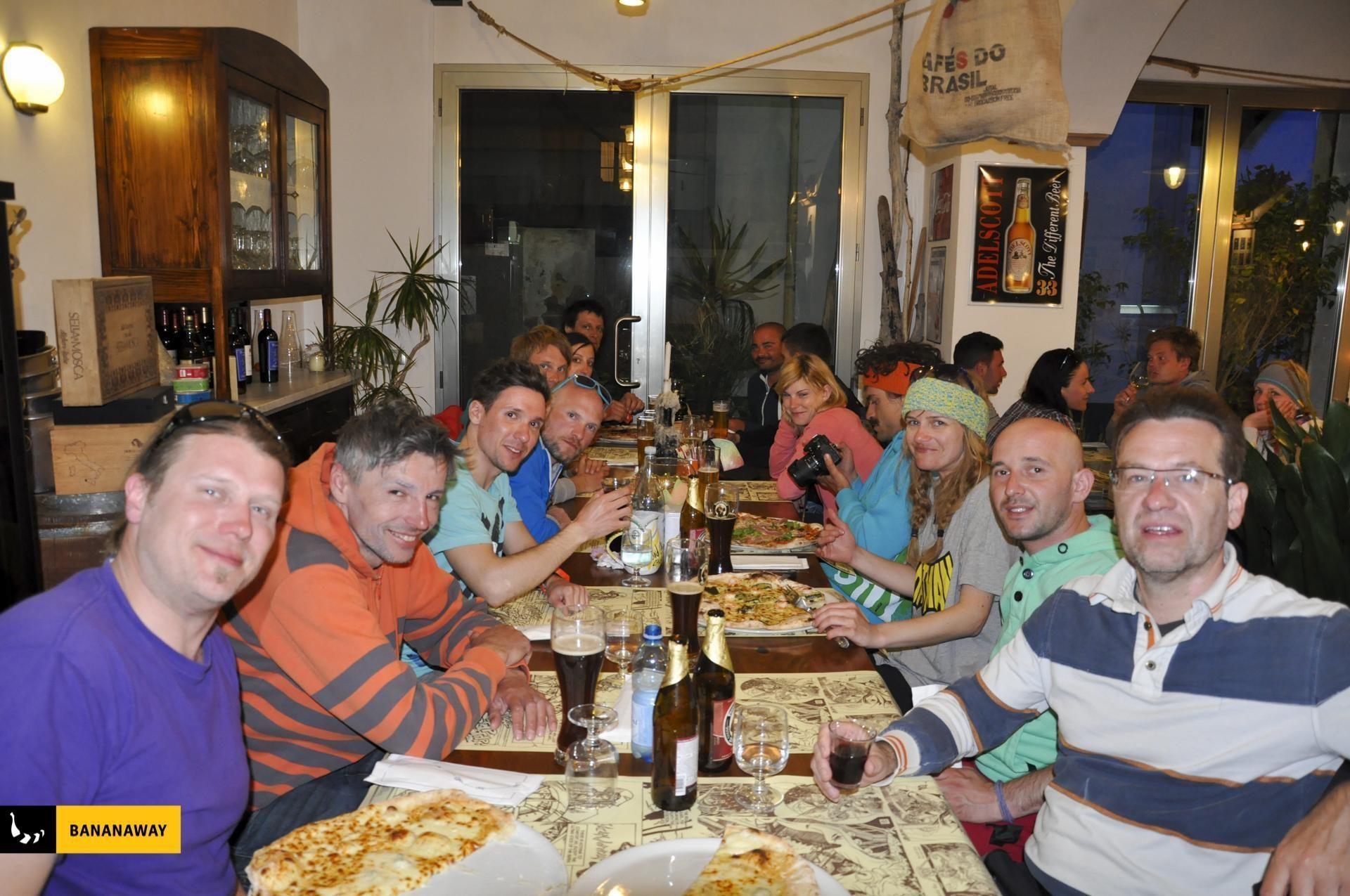 skupne večerje | kajt potovanje Sardinija