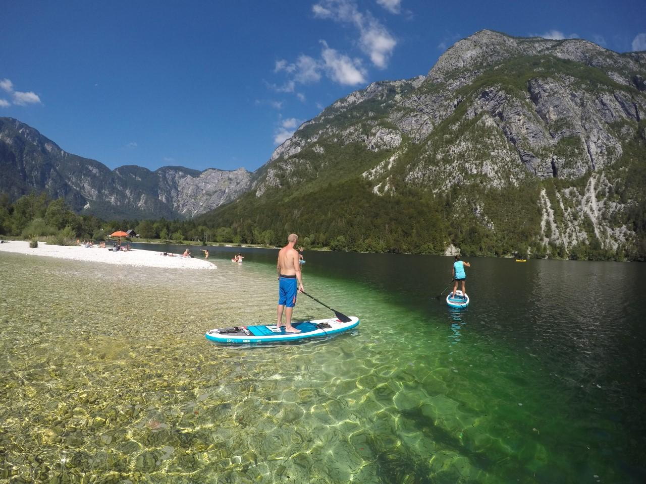 Explore Bohinj with SUP board and have fun