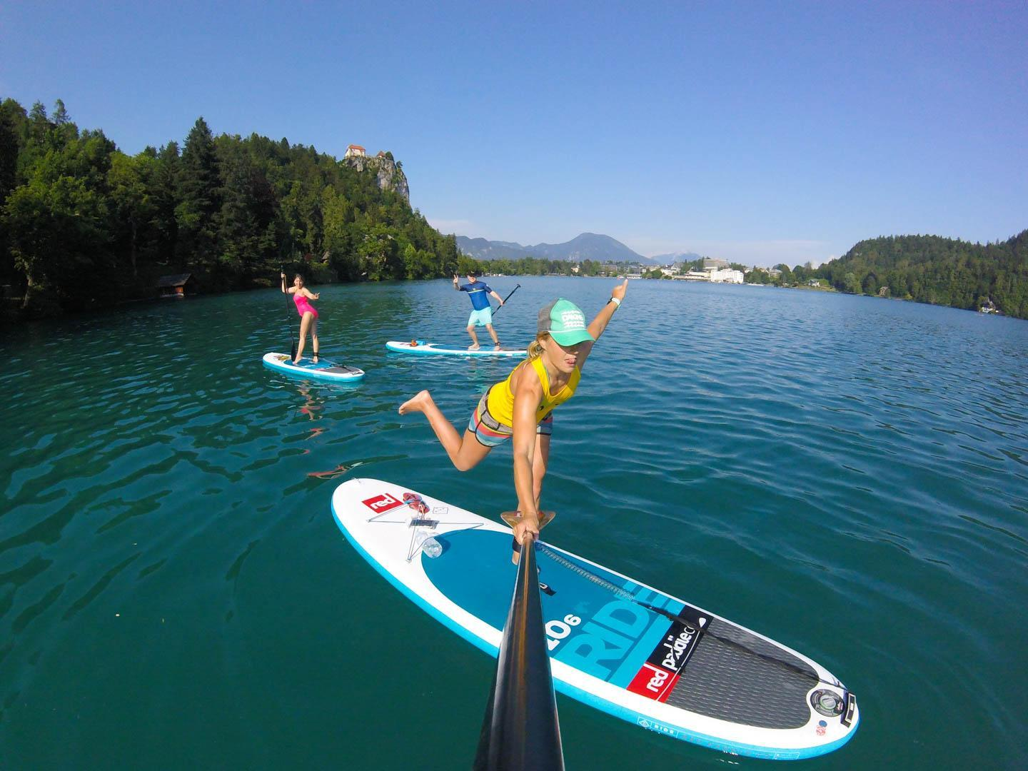 Have fun on lake Bled
