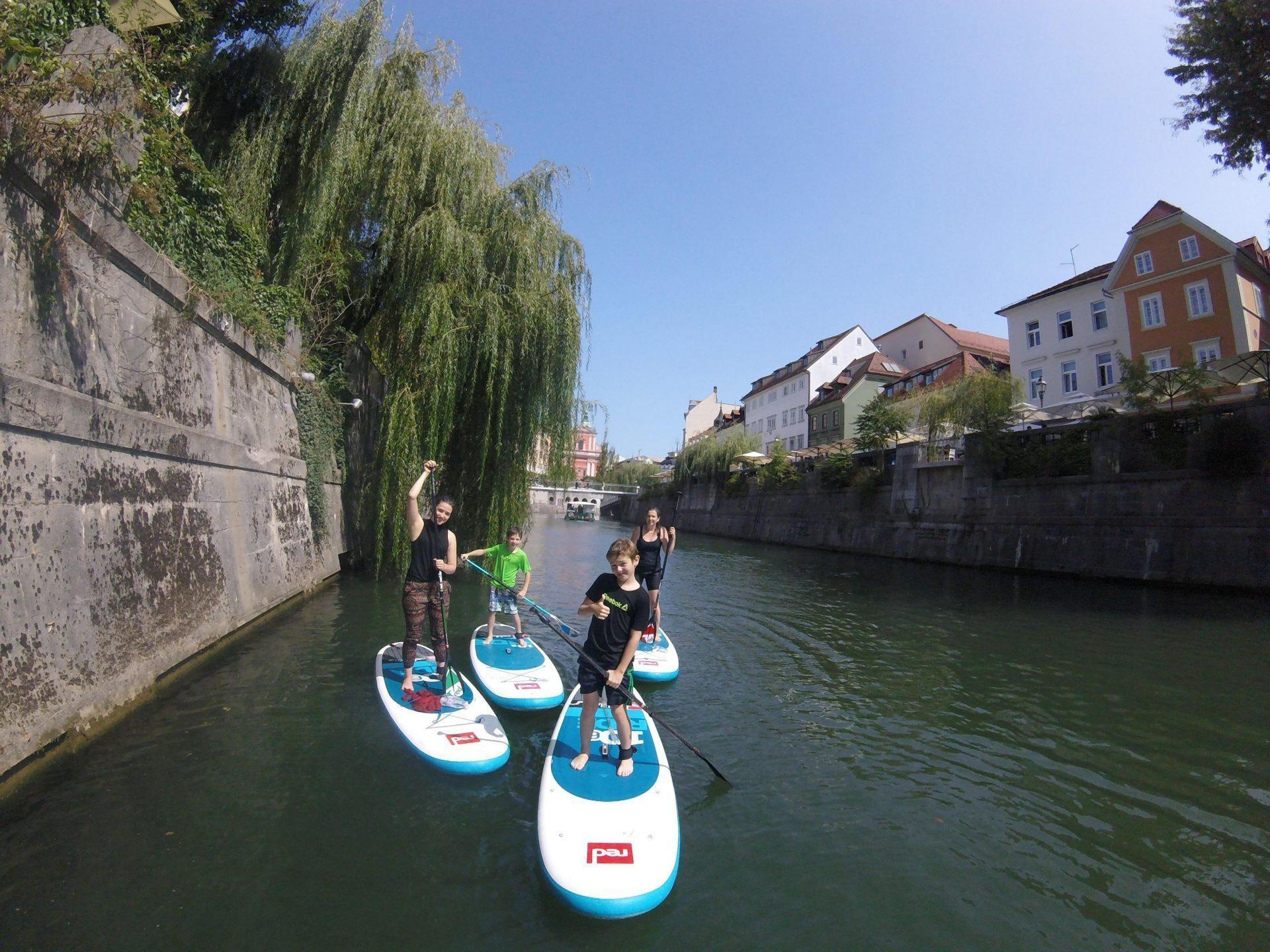 Paddle boarding tour Ljubljana Slovenia