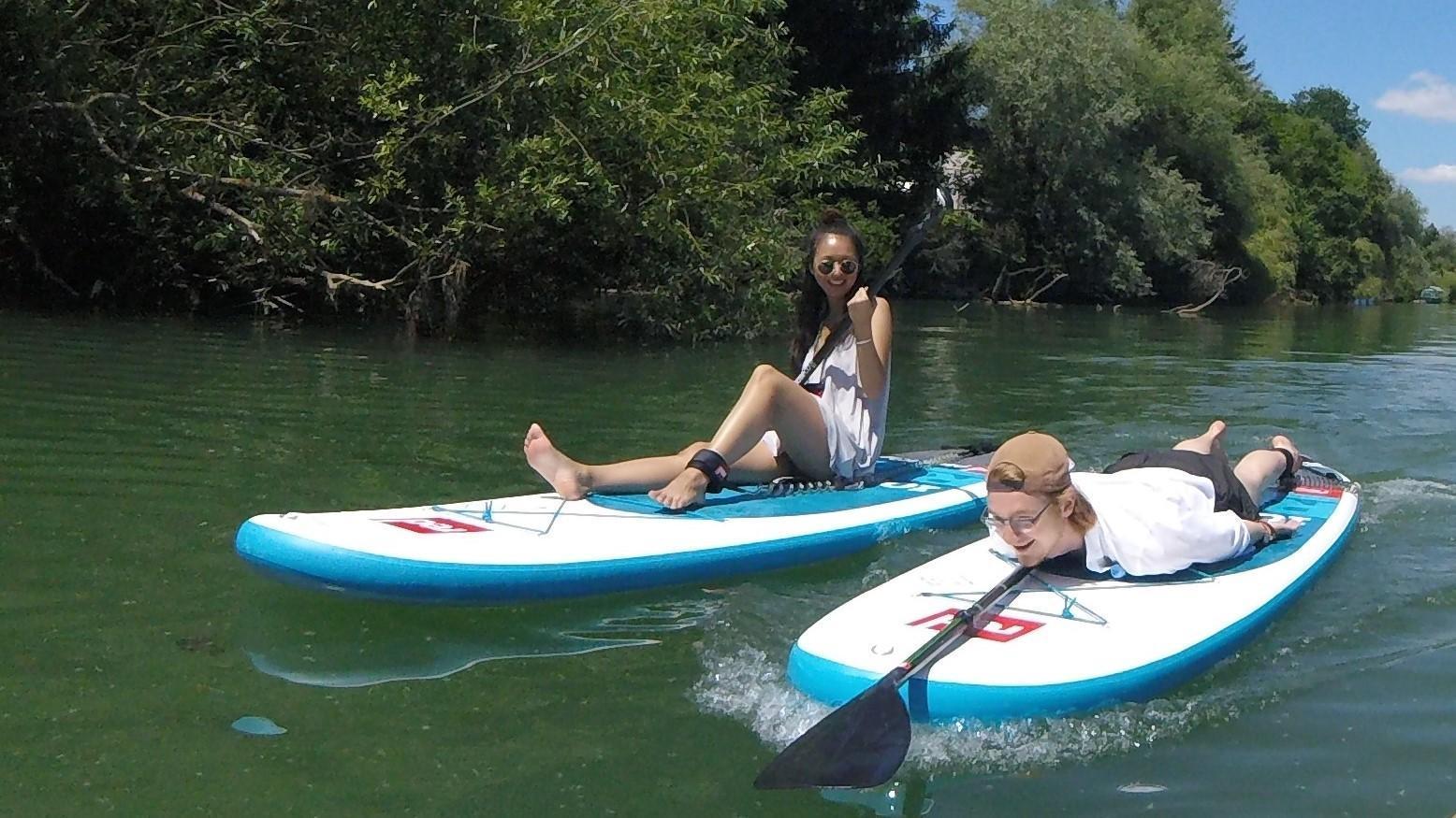 Paddle boarding into the nature Ljubljana Slovenia