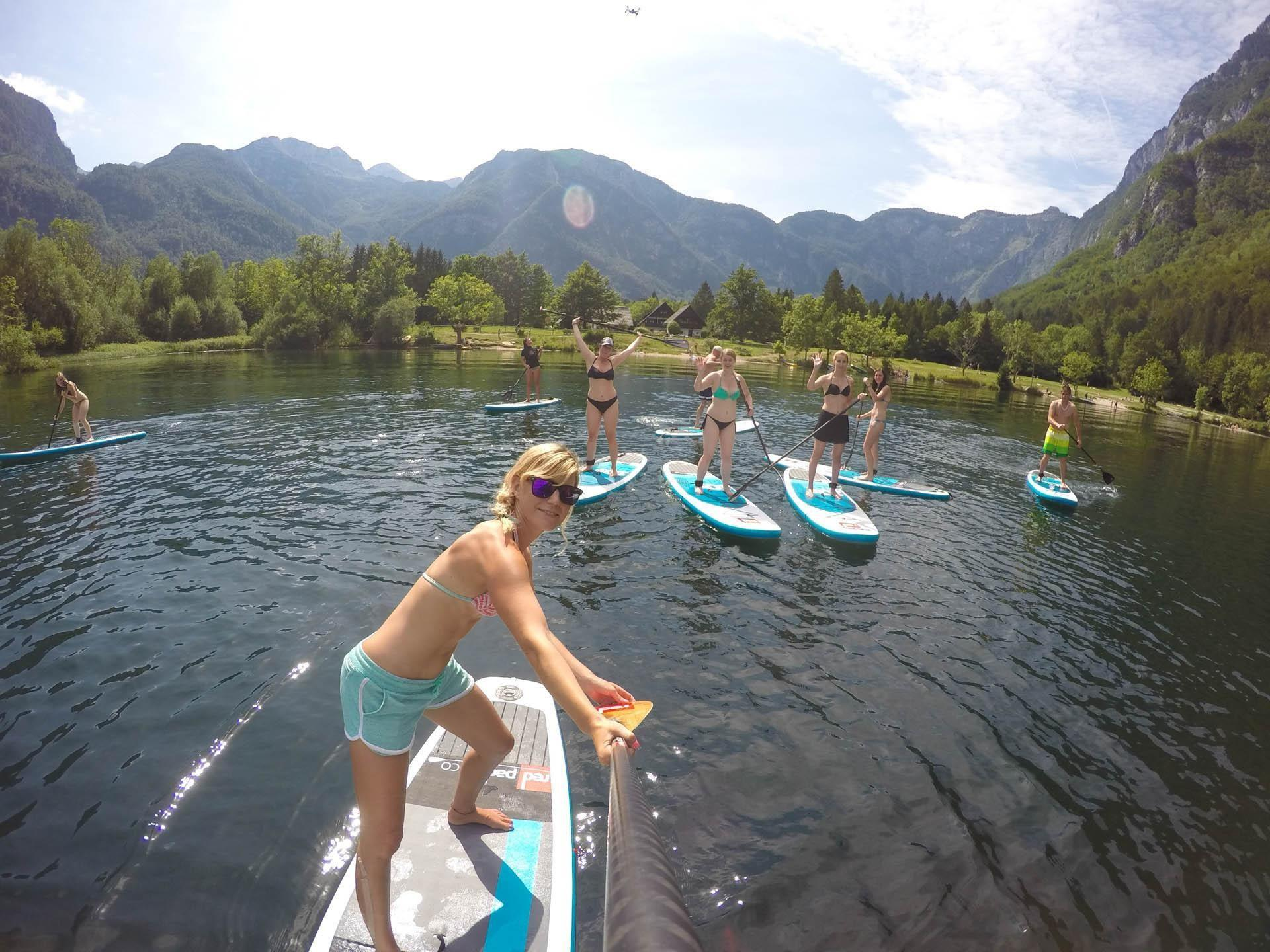Paddle-boarding in Triglav National Park