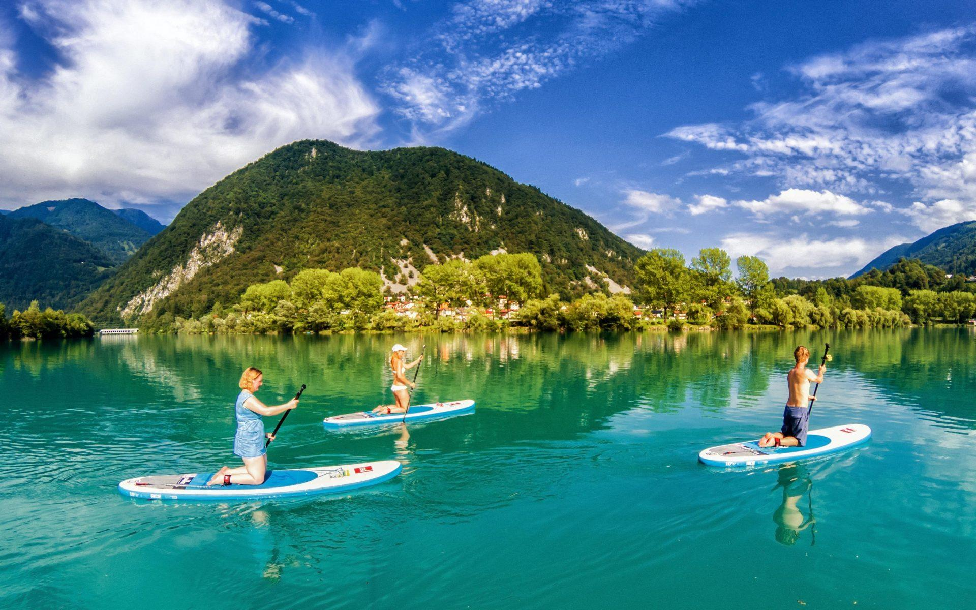 Paddle-boarding Soca River | Slovenia