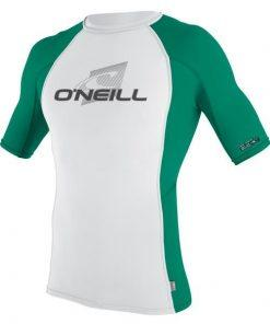 O'Neill Skins S/S Crew White/spruce Front
