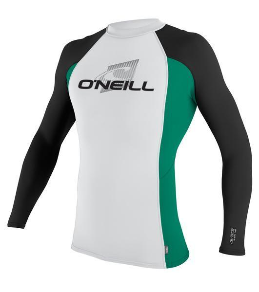 O'Neill Skins S/S Crew White Spruce Black Front