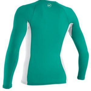 O'Neill Wms Graphic L/S Rash Tee Green Back