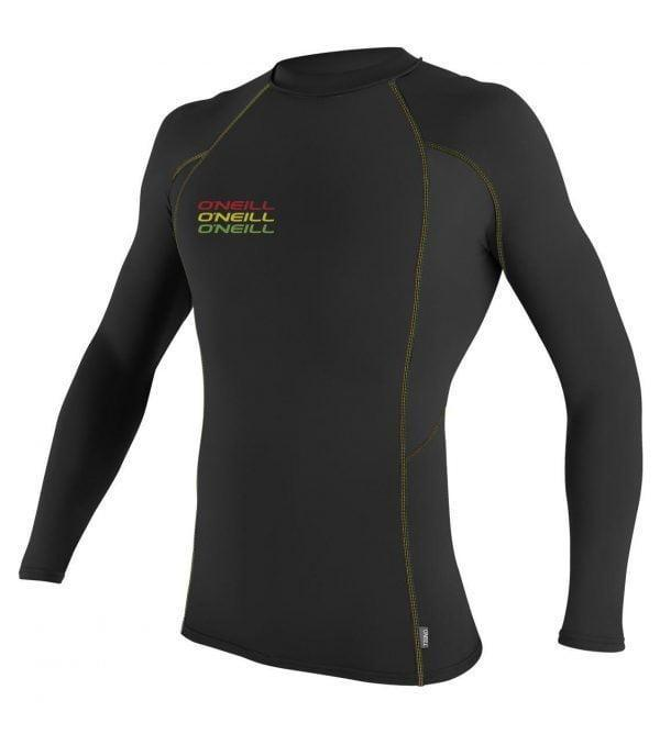 O'Neill Skins Graphic L/S Crew Black front