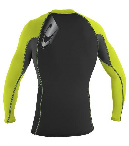 O'Neill Skins Graphic L/S Crew Lime back