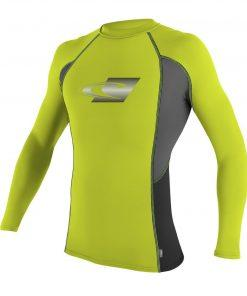 O'Neill Skins Graphic L/S Crew Lime front