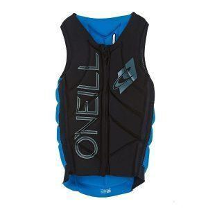 O'Neill Slasher Comp Vest Black Bright Blue - Front
