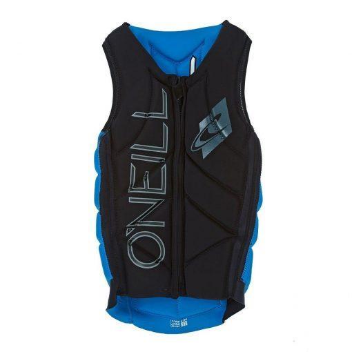 O'Neill Slasher Comp Vest Black Bright Blue - Front