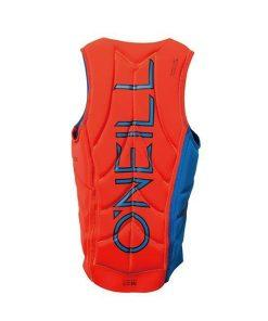 O'Neill Slasher Comp Vest Bright Blue Neon Red - Back