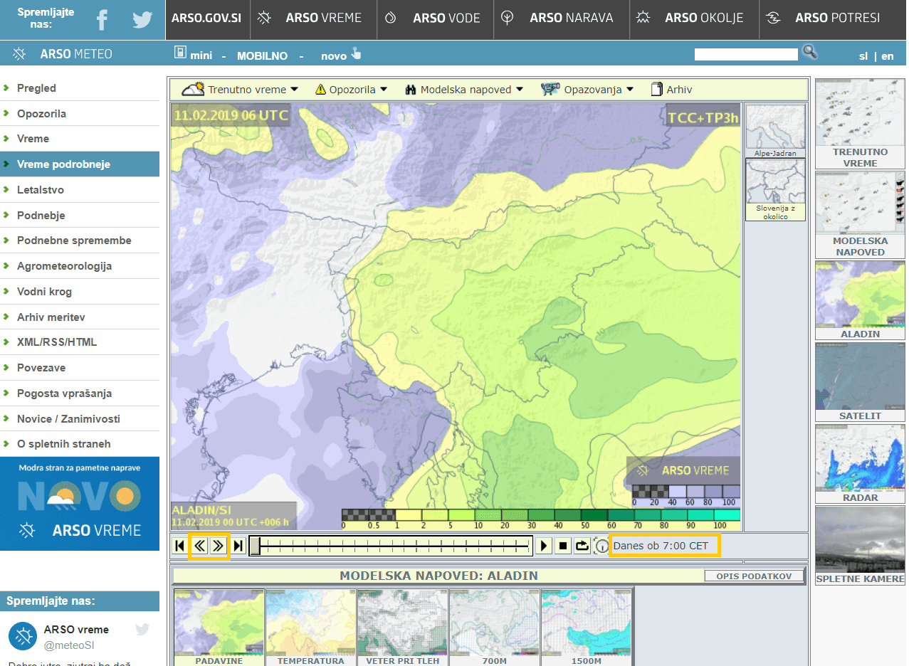 Padavine po Sloveniji