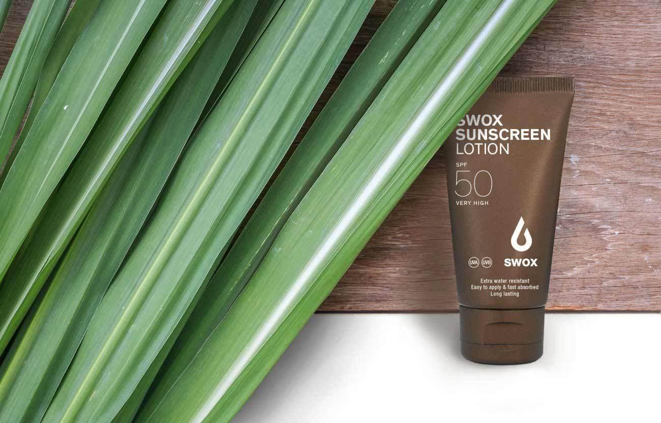 Ekološko, biorazgradljivo pakiranje sončnih krem SWOX