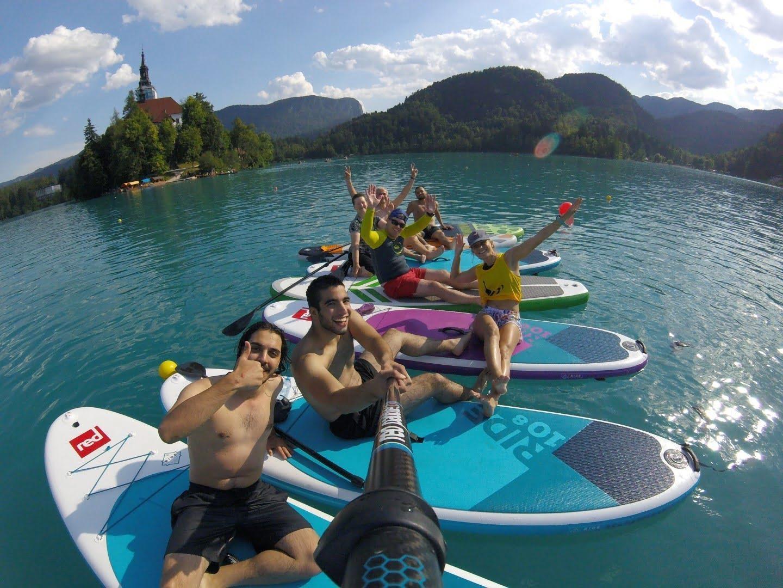 Paddle-boarding lake Bled