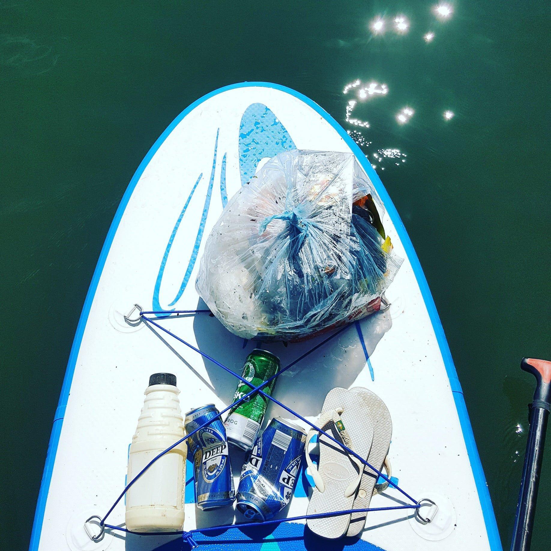 Support clean waters - del Bananaway sup izleta