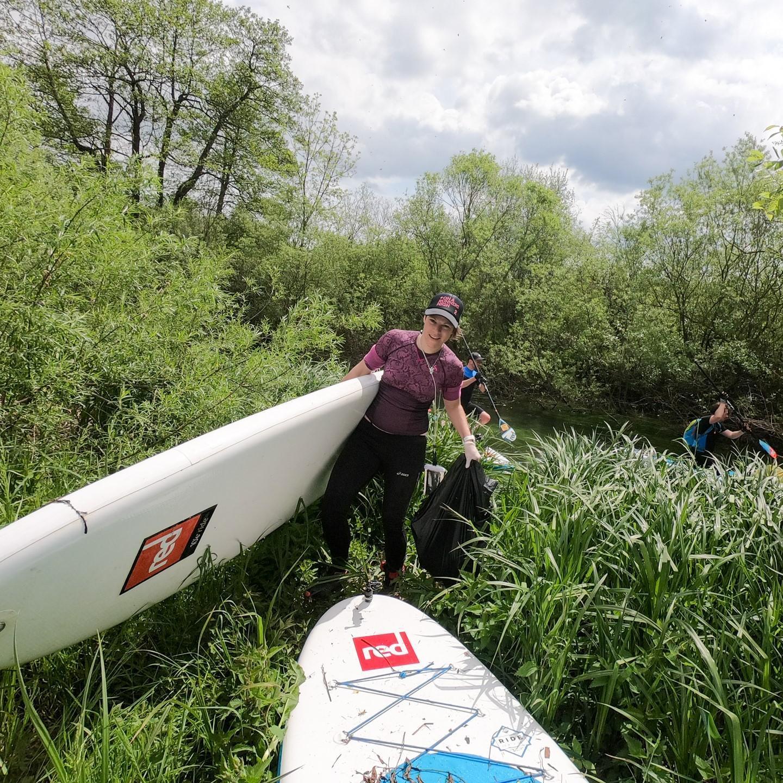 Čistilna akcija reke Ižica