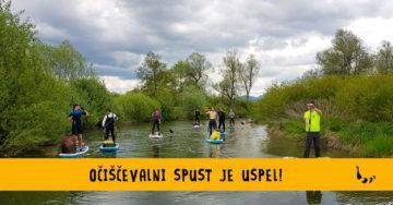 Očiščevalni spust s supom po reki Ižica