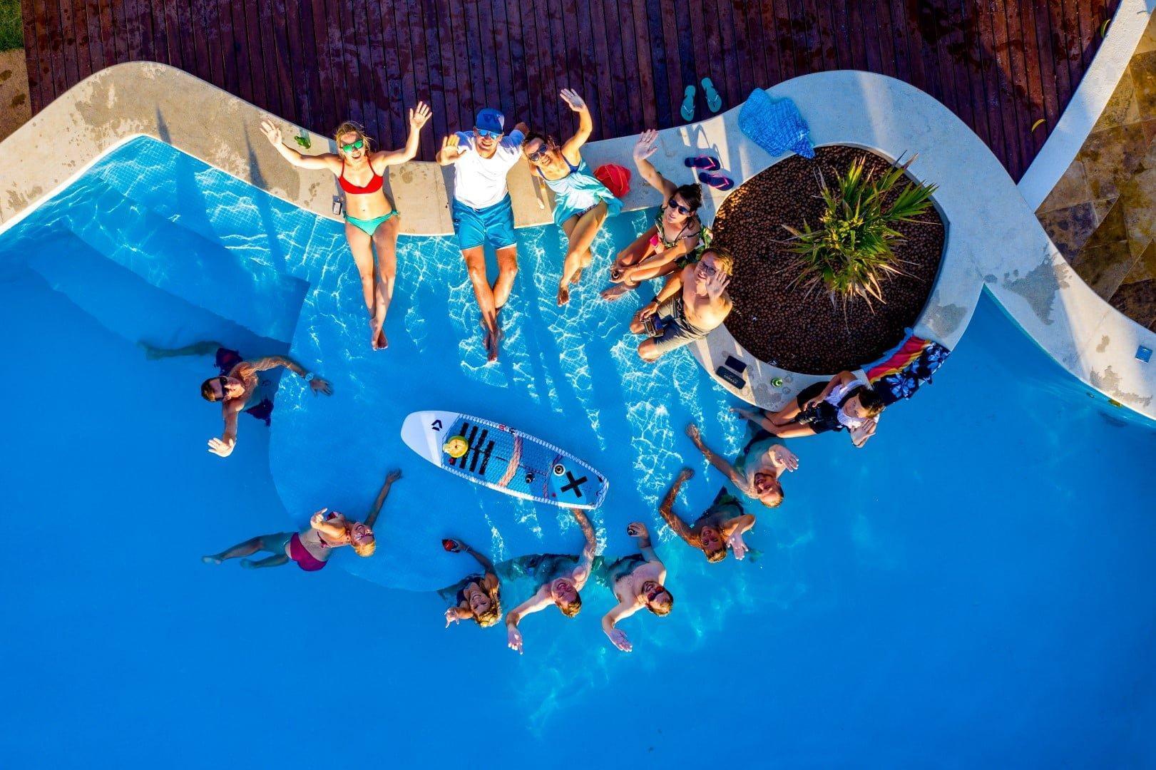 Pool party v Jericoacoari