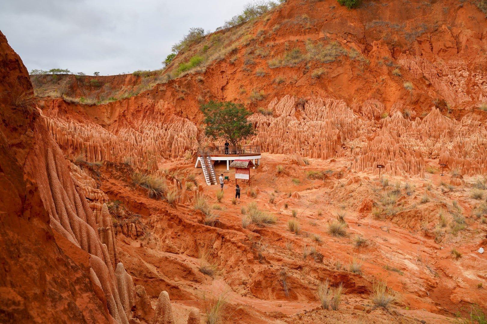 Tsingy Rouge limestone park na Madagaskarju - zanimiv izlet za en dan