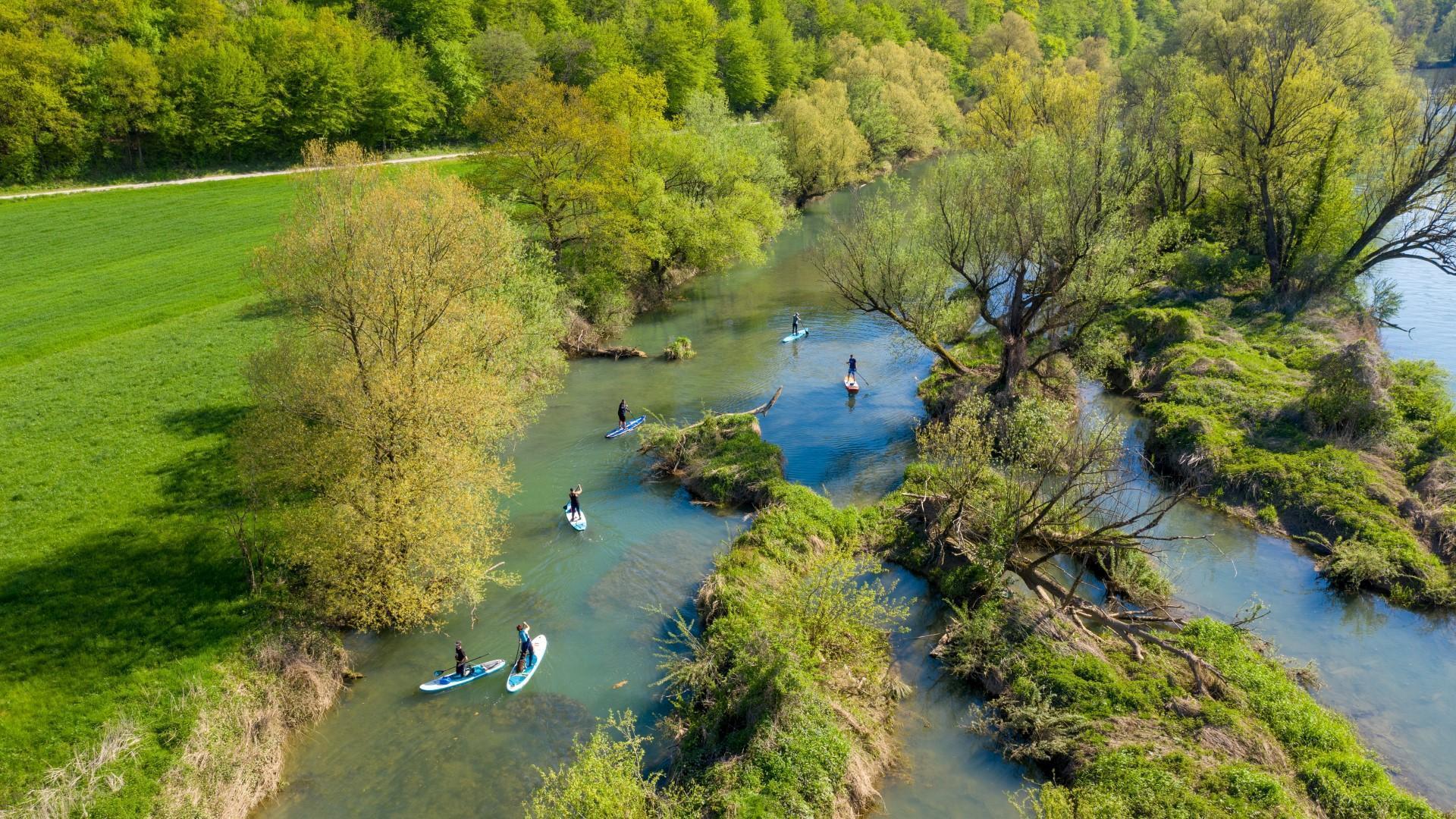 Supanje po reki Krki