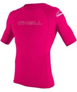 O'Neill Youth Basic Skins S/S Rash Guard Watermelon