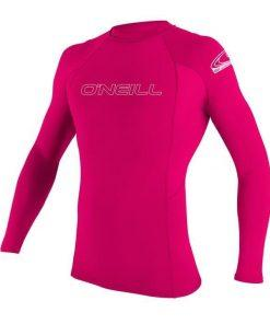 O'Neill Youth Basic Skins L/S Rash Guard Watermelon