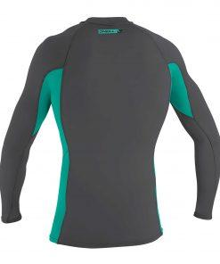 O'Neill Premium Skins L/S Rash Guard GM3 Smoke/BalticGreen