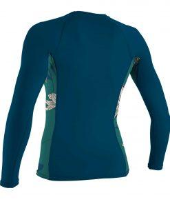 O'Neill Wms Side Print L/S Rash Guard Frenchnavy/Bridget