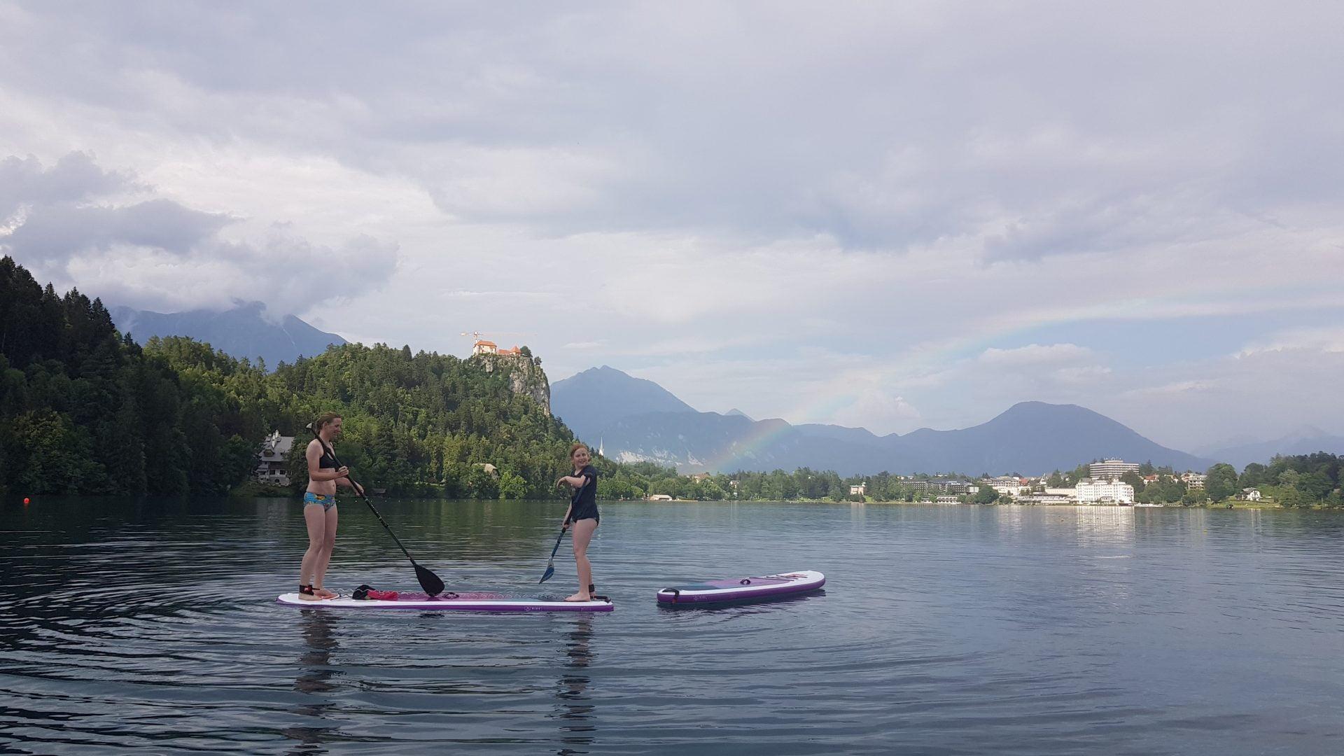 Supanje z otroci - Blejsko jezero