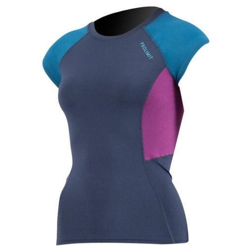Ženska majica z UV zaščito Prolimit Rashguard Pure Girl Shortarm Navy Blue