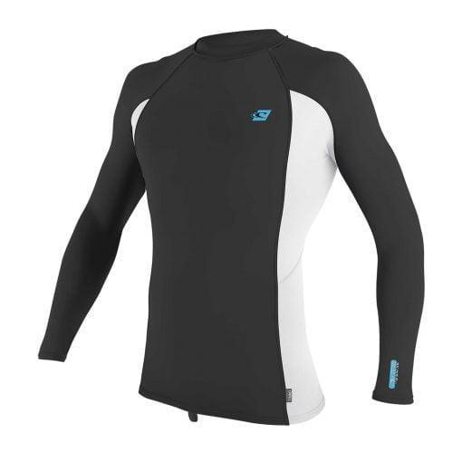 Moška majica z UV zaščito O'Neill Premium Skins L/S Rash Guard GL7 Raven White